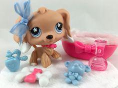 Littlest Pet Shop ULTRA RARE Cocker Spaniel #568 w/Fuzzy Bed & Accessories #Hasbro