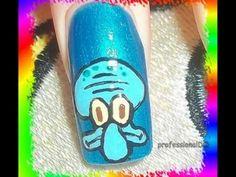 ▶ Squidward Nail Art - YouTube