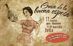 """Se trata de la """"Guía de la buena esposa"""", escrita durante los oscuros años del franquismo y que refleja el concepto de mujer que la Falange fomentaba en aquellos años. Leed directamente la guía, el texto introductorio tiene errores de redacción. El manual, de 1953, fue escrito por Pilar Primo de Rivera (1907-1991), de la Sección Femenina de Falange y hermana de José Antonio Primo de Rivera, fundador de la Falange Española, e hija de Miguel Primo de Rivera, dictador español de los años 20."""