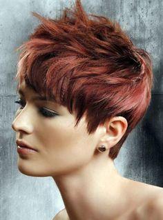 Short Razor Cut Red Hair | Hairstyle Channel - Women hairstyles, Men hairstyles, Formal hairstyles, Wedding hairstyles, Prom hairstyles, Updo hairstyles, Unique hairstyles, Black Female hairstyles, Fine hairstyles, Bob Cuts, Avante-Garde, Celebrity hairstyles