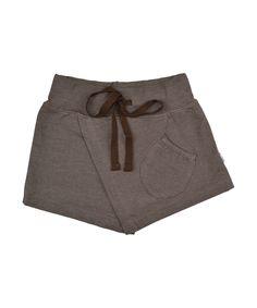 Baba Babywear wonderful shorts with skirt in chocolate brown. baba-babywear.en.emilea.be