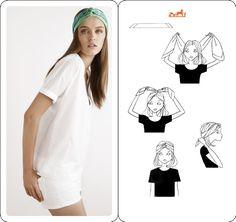Porter le foulard autrement -3- - Le blog de mes loisirs