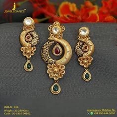 Jewelry OFF! Gold 916 Premium Design Get in touch with us on 919904443030 Gold Earrings Designs, Gold Jewellery Design, Gold Jewelry, Bridal Jewellery, Fashion Jewellery, Handmade Jewellery, Stylish Jewelry, Jewelry Sets, Gold Pendent