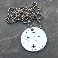 Necklace showcasing the Southern Cross constellation (formally known as Crux).