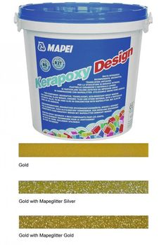 Kerapoxy Design Gold Tile Adhesive & Grout Mapei Starlike Adhesive & Grout Adhesives & Grouts 3 kg from Walls and Floors. Grey Tiles, White Tiles, Epoxy Mortar, Glitter Grout, Gold Glitter, Tile Grout, Epoxy Grout, Grouting, Tiling