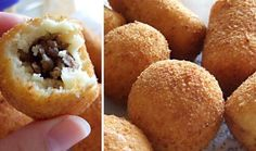 Indische KroketYou can find indische hapjes and more on our website. Dutch Recipes, Asian Recipes, Tapas, Yummy Snacks, Yummy Food, Indonesian Cuisine, Indonesian Recipes, Potato Croquettes, Soul Food