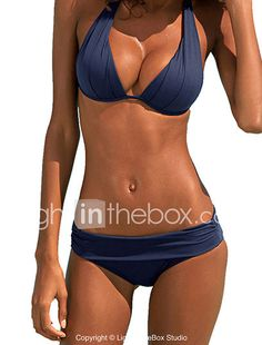 Women's Bandeau Bikini Solid Polyester Solid 2017 - €10.13