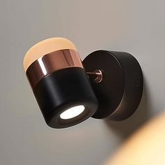Ling Wall Sconce by Seed Design - Color: Black - Finish: Matt Black and Copper - Modern Wall Lights, Modern Chandelier, Modern Lighting, Wall Sconces, Led Wall Sconce, Mugs Set, Frosted Glass, Plates On Wall, Glass Shades