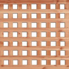 Cedar - 4 Feet x 8 Feet Western Red Cedar Square Lattice - 195729272 - Home Depot Canada $43.38