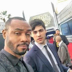 Isaiah and Matthew at the #StarWars world premiere. #Shadowhunters