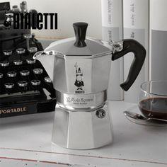 [Bialetti]모카 에스프레소 커피메이커 3컵+추가 3종(사발이+백클립+세척용커피)[moka3+사발이] 40,500