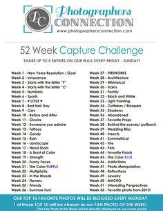 52 Week Capture Challenge (2013) - Photographer's Connection   Photographer's Connection