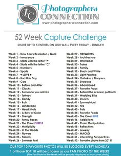 52 Week Capture Challenge (2013) - Photographer's Connection | Photographer's Connection
