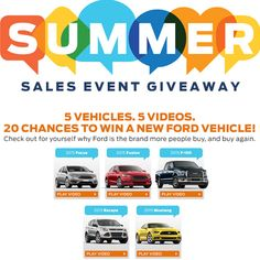 I just entered for a chance to win a new 2015 Ford vehicle!
