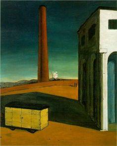 Giorgio de Chirico (1888 - 1978) |  Metaphysical Art | The anguish of departure - 1914