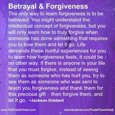 Betrayal & forgiveness