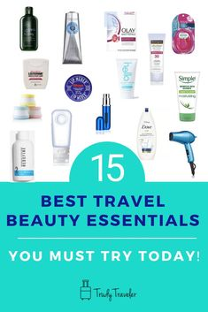 Check out these 15 Travel Beauty Essentials you must have for your next trip. Don't skimp on quality beauty products when traveling. You'll want to grab these travel beauty essentials before your next trip! Scuba diving opens a whole new world for you. Beauty Essentials, Travel Essentials For Women, Travel Info, Packing Tips For Travel, Usa Travel, Travel Beauty Routine, Beauty Hacks, Travel Size Toiletries, Travel Hairstyles