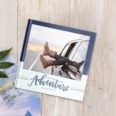 Adventure by — Mixbook Inspiration Album Design, Book Design Layout, Book Cover Design, Shutterfly Books, Digital Photo Album, Photo Album Covers, Wooden Wedding Guest Book, Buch Design, Adventure Photos