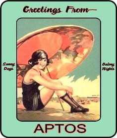 Aptos Beach Girl from Classic Jay's Art & Signs
