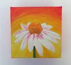 Acrylic Painting Colorful Art Small Canvas Art Flower by SamIamArt, $25.00
