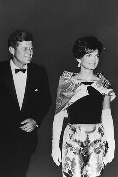 President John F Kennedy and First Lady Jackie Kennedy left the National Theater on 25 September, 1962 in Washington, DC