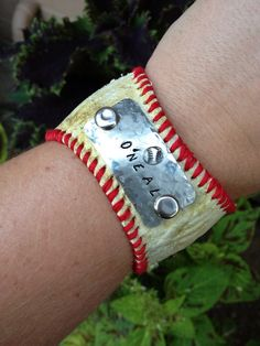 Personalized Baseball Bracelet  Stamped  by TheQueensDaughters