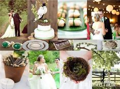 Where the Green Grass Grows: Green, Chocolate Brown & Ivory