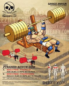chest exercise: bench pyramid anhur