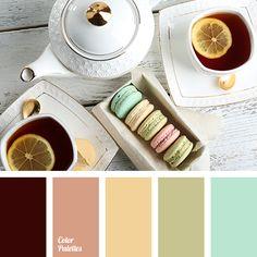 """dusty"" yellow color, bright green color, bright yellow color, cherry color, color matching, color of green pear, color solution for house, mint color, olive color, orange color, pale emerald color, peach color."
