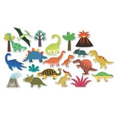 Dinosaur Magnets - 20 pcs Multicoloured Vilac Children- A large selection of Toys and Hobbies on Smallable, the Family Concept Store - More than 600 Toddler Gifts, Gifts For Kids, Dino Toys, Ideal Toys, Happy Birthday Gifts, Non Toxic Paint, Activity Toys, Soft Colors, Educational Toys