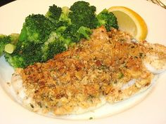 Do it this way instead to be like Jen:   1 1/2 lbs. haddock, cut into 4 pieces  1 sleeve Ritz crackers  1/2 c. butter  1/4 tsp. garlic powder  1/4 c. Parmesan cheese  Place haddock in greased pan. Melt butter and mix with oil. Add crumbs and mix well. Add cheese and garlic. Spoon over fish. Bake at 350 degrees for 25 to 30 minutes.