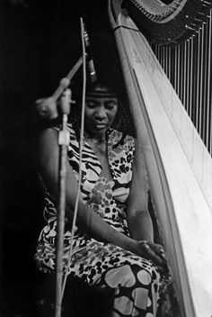 """ALICE COLTRANE ~ Born: August 27, 1937 Detroit, USA. Died: Jan 12, 2007 (aged 69) from respiratory failure. Alice was a pianist, composer, organist & harpist, who spent the majority of her life seeking spiritually in both music & her private life. She one of the few harpists in the history of jazz, and she recorded many albums as a bandleader. Her essential recordings were made in the late 1960s and early 1970s. Paul Weller dedicated his song """"Song For Alice"""" from his album """"22 Dreams"""""""