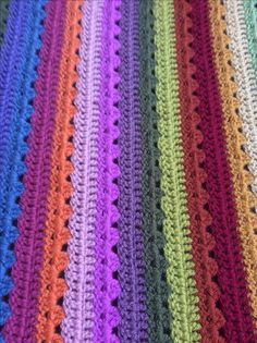 Cosy stripe blanket made by Susanne.