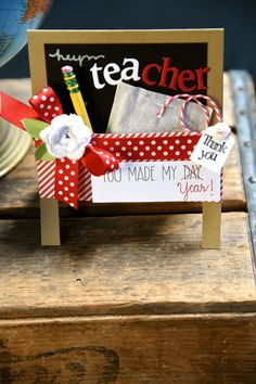 Spellbinders- Don't forget to make a card for your TEA-cher. Created by Debi Adams.