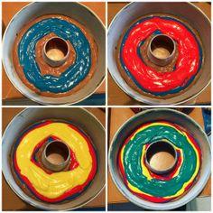 Ecco la ricetta per una fantastica torta arcobaleno