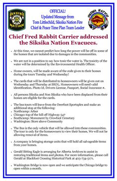 Siksika Nation - Chief Fred Rabbit Carrier Addresses the Evacuees Rabbit Carrier, Team Leader, Peace, Messages, How To Plan, Life, Text Posts, Sobriety