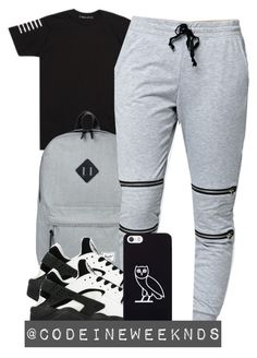 """10:21:15"" by codeineweeknds ❤ liked on Polyvore featuring Herschel Supply Co., LA: Hearts, NIKE and October's Very Own"