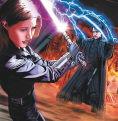 Jaina Solo and Sith Jacen Solo