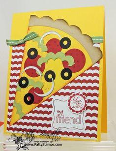 Pizza punch art card Patty Bennett, Stampin' Up! demonstrator