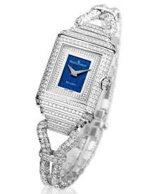 Jaeger-LeCoultre unveils the Reverso Cordonnet Duetto dual-dial watch with 1,250 diamonds!