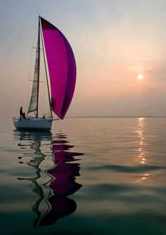 Find images and videos about sea, ocean and sunset on We Heart It - the app to get lost in what you love. Yacht Design, Sail Away, Set Sail, Water Crafts, Belle Photo, Beautiful World, Beautiful Sunset, Sailing Ships, Sailing Boat