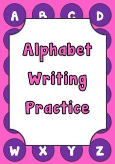 Alphabet Writing Practice
