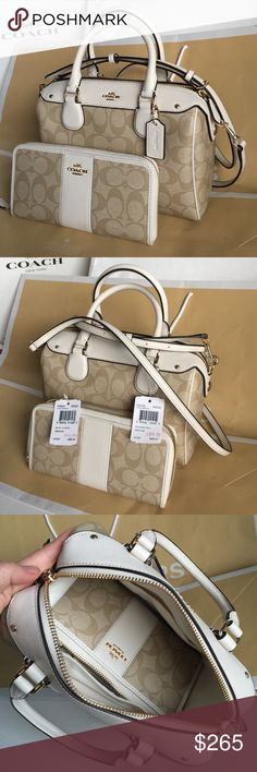 Coach Purse and Wallet Authentic Coach Purse and Wallet  Coach Bags Crossbody Bags