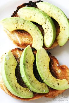 Avocado on your favorite bread toasted. Place avocado and drizzle with olive oil and top with sea salt and cracked pepper.