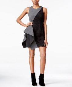 RACHEL Rachel Roy Asymmetrical Sheath Dress