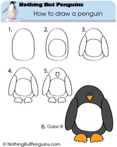 How to draw a penguin – moderate