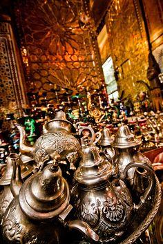 Teapots in Marrakesh