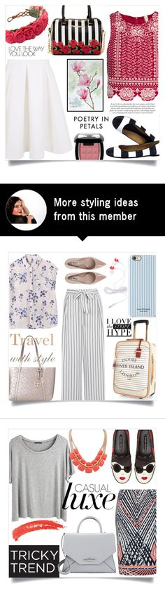 """""""Flowers + stripes (III)"""" by sara-86 on Polyvore featuring Kate Spade, H&M, Keepsake the Label and Betsey Johnson"""