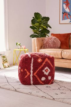 Tufted Rug Pouf