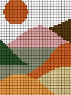 Alpha pattern #44441 | BraceletBook Crochet Wall Art, Tapestry Crochet Patterns, Crochet Wall Hangings, Fuse Bead Patterns, Beading Patterns, Cross Stitching, Cross Stitch Embroidery, Cross Stitch Designs, Cross Stitch Patterns